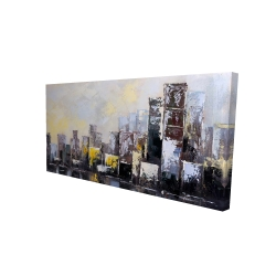 Canvas 24 x 48 - 3D - Abstract city in the morning