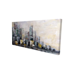 Canvas 24 x 48 - 3D - Abstract cityscape in the morning
