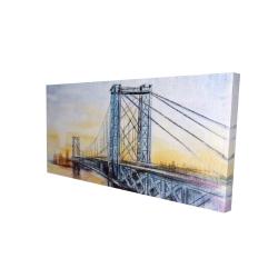 Canvas 24 x 48 - 3D - Abstract brooklyn bridge