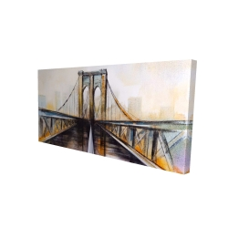 Canvas 24 x 48 - 3D - Colorful brooklyn bridge