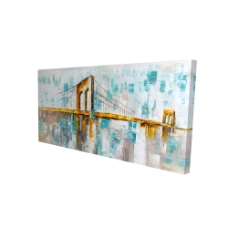Canvas 24 x 48 - 3D - Brooklyn bridge