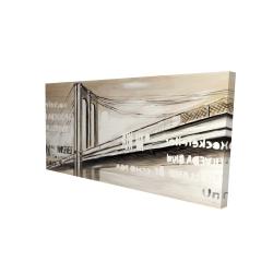 Canvas 24 x 48 - 3D - City brige