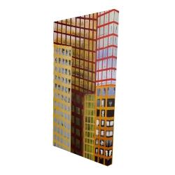Canvas 24 x 48 - 3D - Skyscrapers