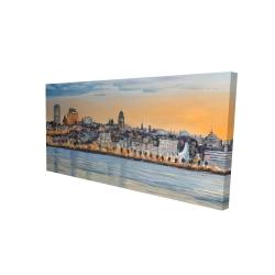 Canvas 24 x 48 - 3D - Skyline of quebec city