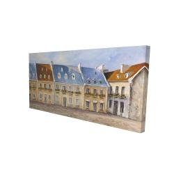 Canvas 24 x 48 - 3D - Old quebec city