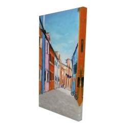 Canvas 24 x 48 - 3D - Colorful houses in italy