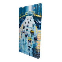 Canvas 24 x 48 - 3D - Rainy streets of new york