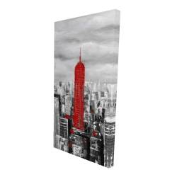 Canvas 24 x 48 - 3D - Empire state building of new york