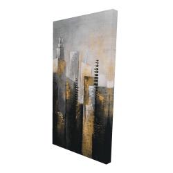 Canvas 24 x 48 - 3D - Abstract gold skyscraper