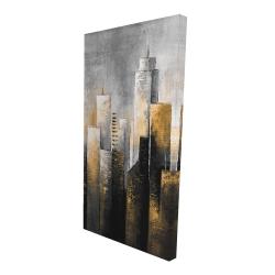 Canvas 24 x 48 - 3D - Abstract skyline