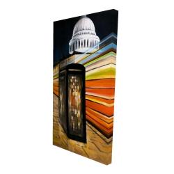 Canvas 24 x 48 - 3D - Fast london bus