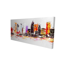 Canvas 24 x 48 - 3D - Abstract city in bright colors