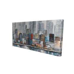Canvas 24 x 48 - 3D - Abstract city skyline