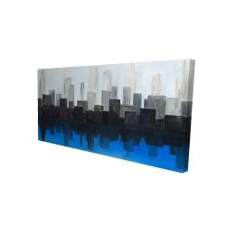 Canvas 24 x 48 - 3D - Blue city