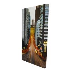 Canvas 24 x 48 - 3D - San francisco by night