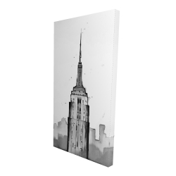Canvas 24 x 48 - 3D - Empire state building