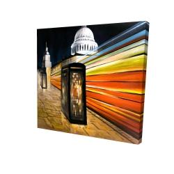 Canvas 24 x 24 - 3D - Fast london bus
