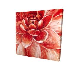 Canvas 24 x 24 - 3D - Red chrysanthemum