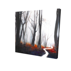 Canvas 24 x 24 - 3D - Mysterious forest with stream