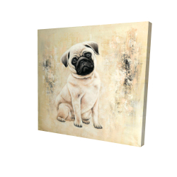 Canvas 24 x 24 - 3D - Small pug