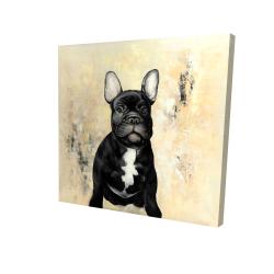 Canvas 24 x 24 - 3D - French bulldog