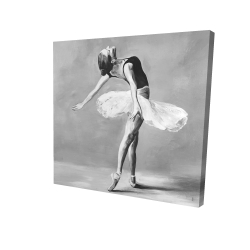 Canvas 24 x 24 - 3D - Classic ballet dancer
