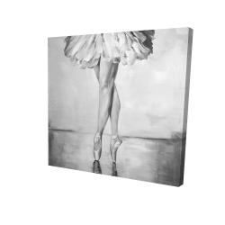 Canvas 24 x 24 - 3D - Ballet classic steps