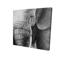 Toile 24 x 24 - 3D - éléphant