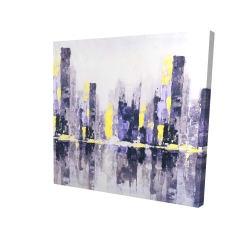 Canvas 24 x 24 - 3D - Abstract purple city