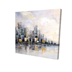 Canvas 24 x 24 - 3D - Abstract cityscape in the morning