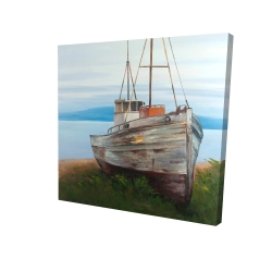 Canvas 24 x 24 - 3D - Old abandoned boat