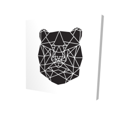 Canvas 24 x 24 - 3D - Geometric bear head