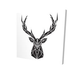 Canvas 24 x 24 - 3D - Geometric deer head