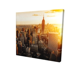 Canvas 24 x 24 - 3D - New york city at sunset