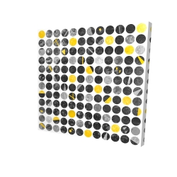 Canvas 24 x 24 - 3D - Abstract grunge circles