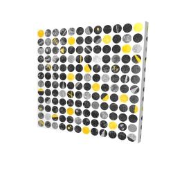 Canvas 24 x 24 - 3D - Abstract grunge circles