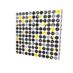 Canvas 24 x 24 - 3D - Grunge circles
