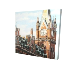 Canvas 24 x 24 - 3D - St-pancras station in london