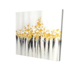 Canvas 24 x 24 - 3D - Abstract gold flowers