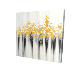 Canvas 24 x 24 - 3D - Small golden spots