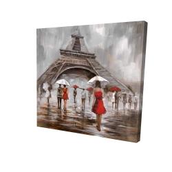 Canvas 24 x 24 - 3D - Near the eiffel tower
