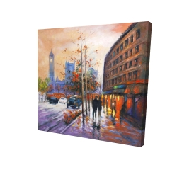 Canvas 24 x 24 - 3D - City by fall