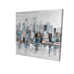 Canvas 24 x 24 - 3D - Abstract urban skyline