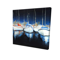 Canvas 24 x 24 - 3D - Evening at the marina