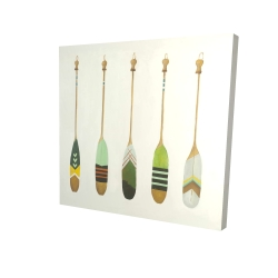 Canvas 24 x 24 - 3D - Colorful nautical oars