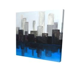 Canvas 24 x 24 - 3D - Blue city