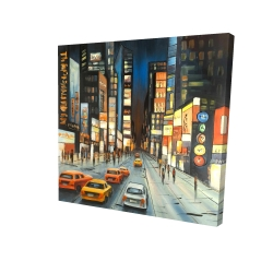 Canvas 24 x 24 - 3D - View on times square