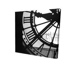 Canvas 24 x 24 - 3D - Clock at the orsay museum