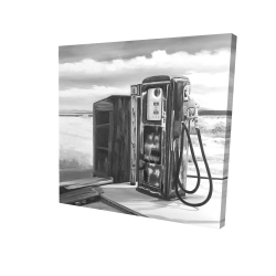 Canvas 24 x 24 - 3D - Old gas pump