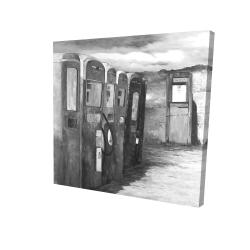 Canvas 24 x 24 - 3D - Old gas pumps